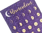 Lunar Ramadan Pocket Calendar ~ Violet