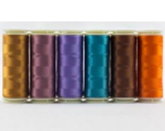 Wonderfil Invisafil 100 wt Polyester Thread Set B009 - Six 400m Spools