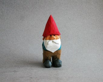 Garden Gnome wood carving  # 82