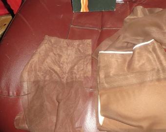 Vintage 2 pair 50s/60s nylon stockings dark brown  sz 9
