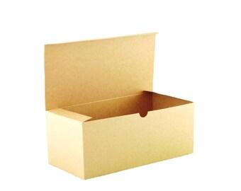 "Kraft Gift Boxes 10x Bulk Lot 10"" x 5"" x 4.5"" for Fall Party Favors, Gift Box for Beer Glasses, Socks, Make-up Bag Gift Box"