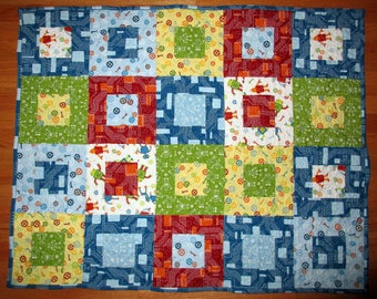 Robot Factory Little Boy's  Quilt