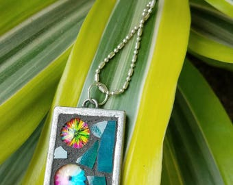 Mosaic necklace( reserved for Julie)