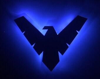 Nightwing Inspired Illuminated Sign