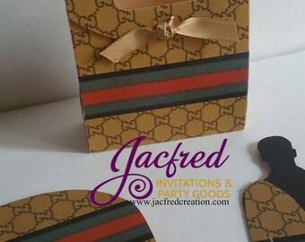 Designer party favor bags, (10 bags)