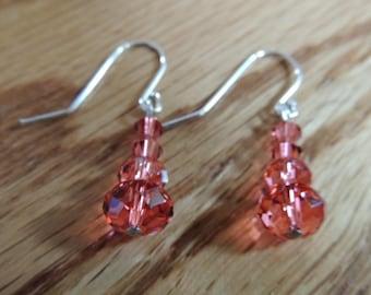 Swarovski padparadscha Earrings