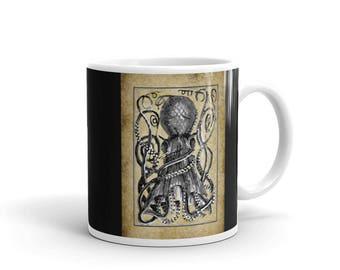 The Kraken - Steampunky/ Pirate Giant Octopus - Mug/Cup Coffee/Tea