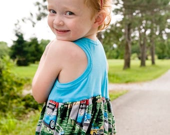 Road Trip Racerback Top, Tunic and Dress, PDF Sewing Pattern, including sizes 12months-14 years, Girls Pattern