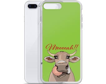 Christmas Gift Idea - Cow iPhone Case - Farm Animal Lover - Gift for Her, Kids - Silly Cow Liver Gift - Girlfriend Boyfriend Presents