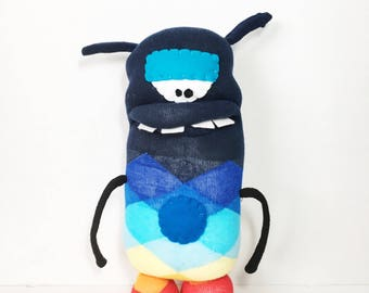 OG - Handmade Monster, Boy, Stuffed Toy, Sockmonster