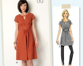 B6168 ~ LISETTE for Butterick ~  Semi-Fitted Tunic or Dress ~  Multi-Size Sewing Pattern - Women sizes 6-22  (BP275)