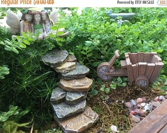 SALE Rock Staircase, Rock Steps, Fairy Garden, Miniature Gardening Accessory, Yard Decor