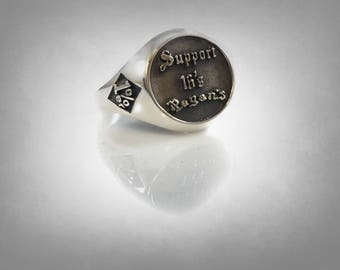 THE Pagans 16s ring sterling silver 1%er Outlaw one percenter gangs