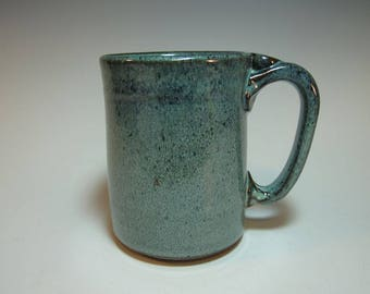 Large Blue Green Coffee Mug, Beer Stein - Holds 16 ounces - In Stock