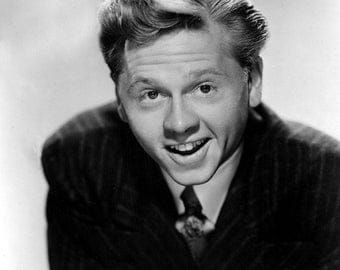 Mickey Rooney image 8 x 10 reproduction