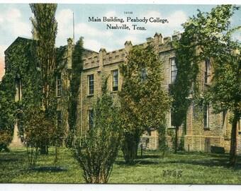 Main Building Peabody College Vanderbilt University Nashville Tennessee 1910c postcard