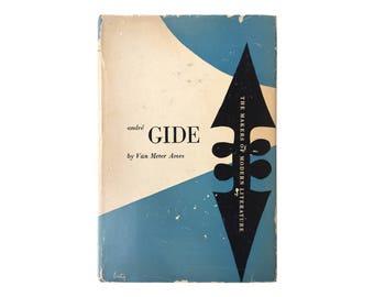"Alvin Lustig book jacket design, 1947. ""André Gide"" by Van Meter Ames [New Directions, The Makers of Modern Literature]"