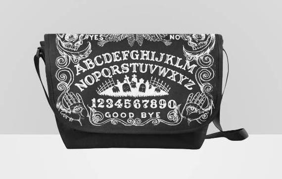 Black Ouija messenger bag