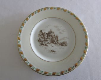 Fontainebleau Charles Ahrenfeldt Limoges Plate with Landscape.