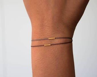 SALE Balance Bracelet in 18k solid gold, minimalist jewelry, delicate jewelry