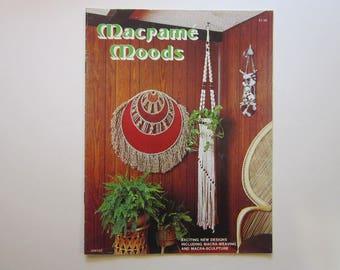 vintage MACRAME book - Macrame Moods - 1976