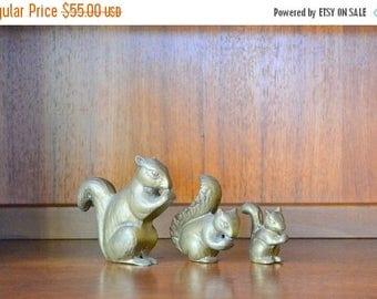 SALE 25% OFF vintage brass squirrel figurine collection