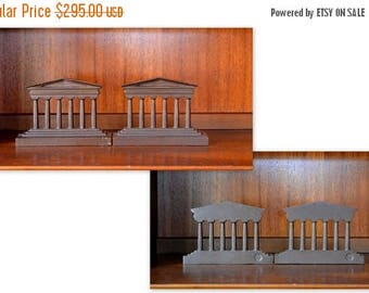 SALE 25% OFF vintage 1920s bradley and hubbard cast bronze parthenon bookends