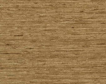 687530 Golden Brown Faux Grasscloth Wallpaper