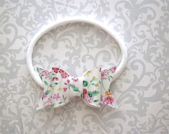 Faux Leather Baby Bow, Baby Bow Headband, Faux Leather Bow Headband, Faux Leather Bows, Floral Bow Headband, Baby Headband, Toddler Headband