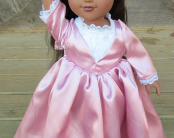 """1 Doll Costume Angelica Schuyler Sisters from Hamilton 18"""" Doll Dress"""
