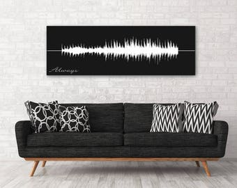 First Anniversary Gift For Him, Personalized Sound Wave Art, First Dance Lyrics, Mens Gift, Gift For Men