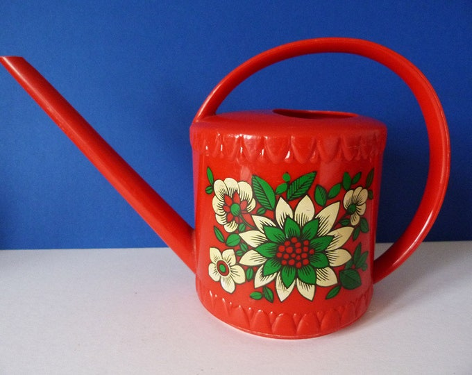 Indoor Watering Can Flower Power Vintage 1970's Emsa West Germany