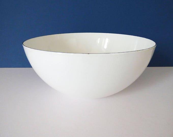 """Finel Bowl Enamel 9.5"""" Kaj Franck Finland X Large size MCM"""