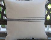 French Grain Stripe Pillow