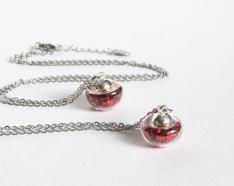 Apple Shape Vial Necklace