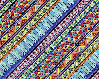 Night Bright Stripe  - Wilmington Prints - Half Yard
