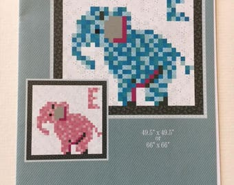 "Stinkin' Cute baby quilt pattern - Lorrie Franz for Bean Counter Quilts - 49 1/2"" x 49 1/2"" or 66"" x 66"""