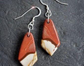 Desert Sands - Succor Creek Jasper Sterling Silver Earrings