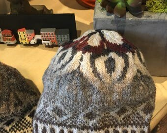 Sister Hat:  Hand knit wool beanie or tam