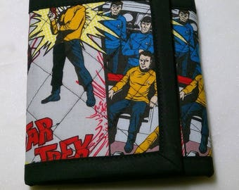 Star Trek - Quilted Wallet - Kurk, Spock, Scotty, Sulu, Uhura