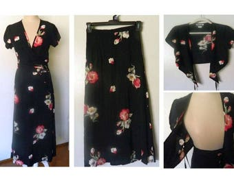 Marnie West Vintage Skirt and Wrap Top