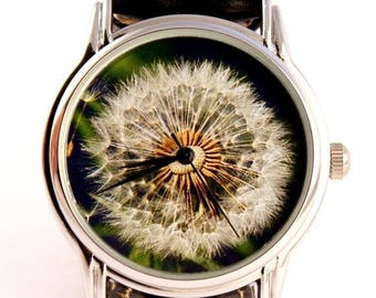 ON SALE 25% OFF Watch dandelion, unisex watch, women watch, mens wrist watch