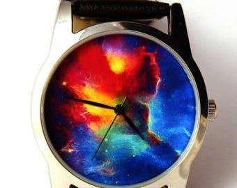 ON SALE 25% OFF Wrist watch Nebula Hubble space photo, unisex watch, women watch, men wrist watch
