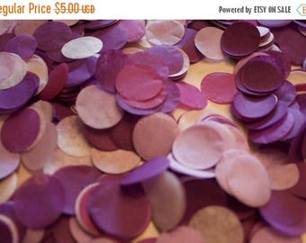 "ON SALE Purple Ombre Tissue Confetti 3/4"" Circles"