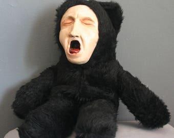 Stuffed Animal Original Handmade Screaming Teddy Bear Toy