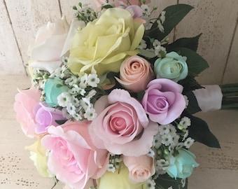 Pastel Rainbow Brides Bouquet