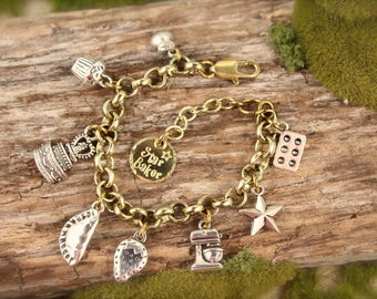 Great British Bake Off Baking Show Inspired Charm Bracelet