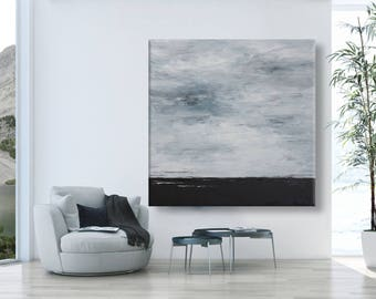 """Huge Abstract landscape Painting extra Large Painting  Contemporary modern wall art """"Perfect Landscape"""""""