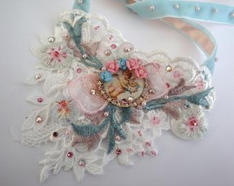 cherubs romantic necklace necklace romantic shabby on lace Angels