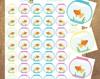 Sticker Sheet   Planner Sticker - Fish Bowl Reminder